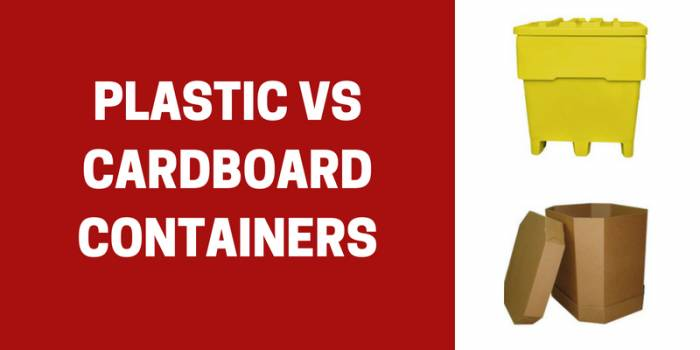 cardboard vs plastic bulk containers