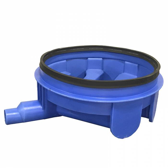 plastic manhole with rubber seal